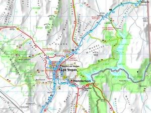 Straßenkarte USA Nevada 1 : 800 000