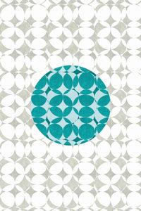 Premium Textil-Leinwand 80 cm x 120 cm hoch Punkte, Türkis und