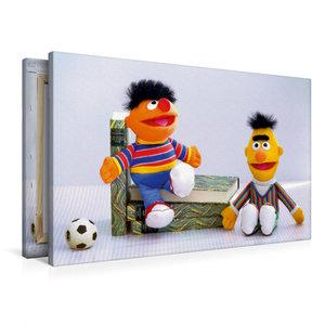 Premium Textil-Leinwand 90 cm x 60 cm quer Erni und Bernd