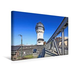 Premium Textil-Leinwand 45 cm x 30 cm quer Wasserturm Darmstadt