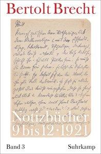 Notizbücher Band 3: 1921