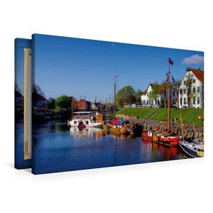 Premium Textil-Leinwand 90 cm x 60 cm quer Museumshafen Caroline