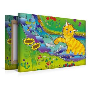 Premium Textil-Leinwand 45 cm x 30 cm quer Planschen