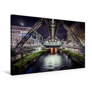 Premium Textil-Leinwand 90 cm x 60 cm quer Schwebebahnstation Wu