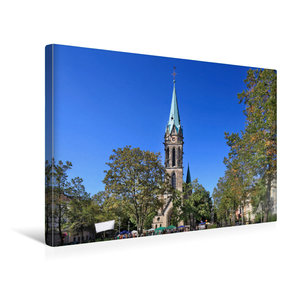Premium Textil-Leinwand 45 cm x 30 cm quer Johanneskirche