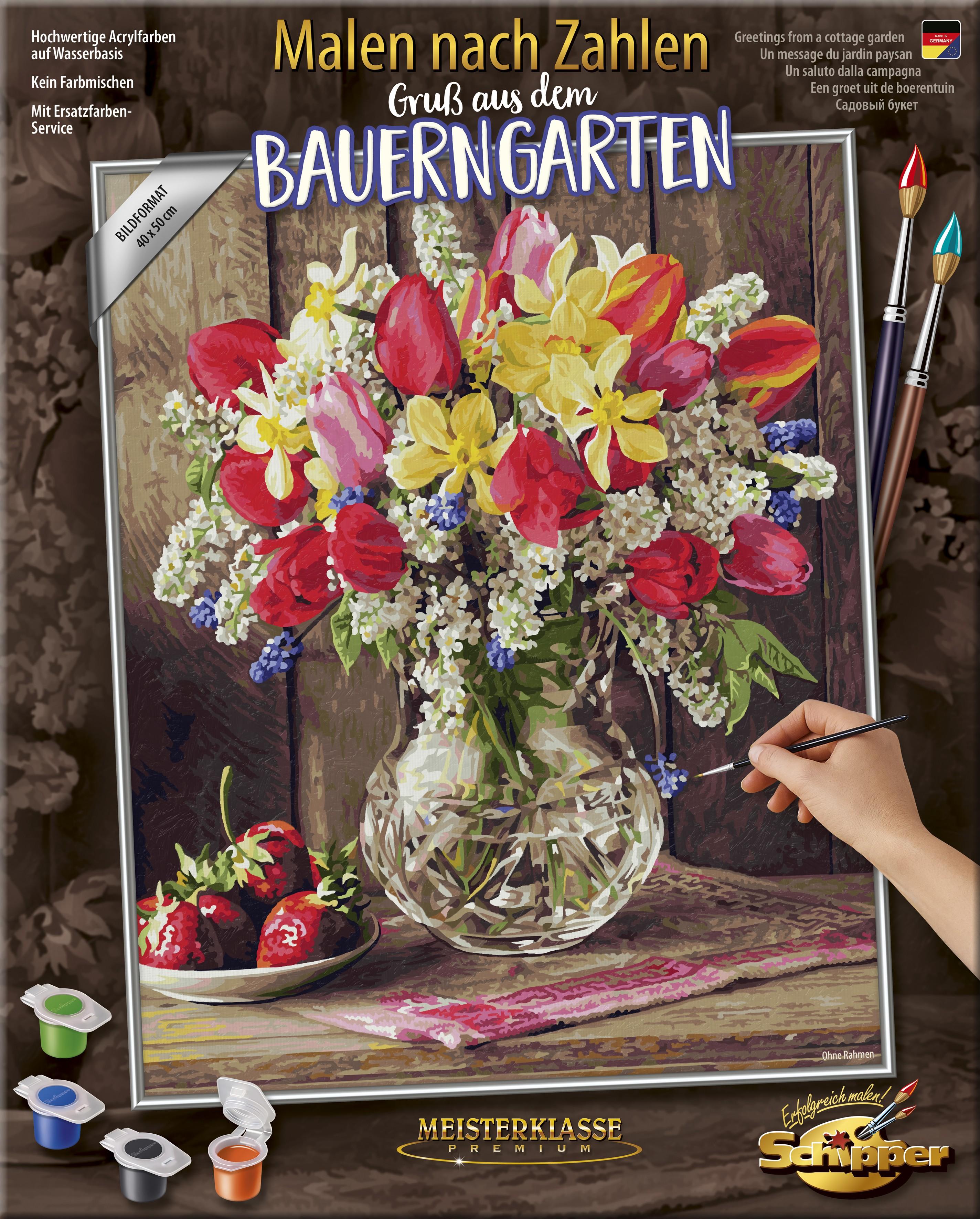 Schipper 609130790 Malen Nach Zahlen Ein Gruß Aus Dem Bauerngarten 40 X 50 Cm