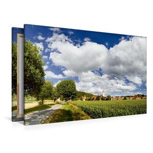 Premium Textil-Leinwand 120 cm x 80 cm quer Dollnstein im Altmüh