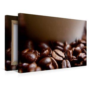 Premium Textil-Leinwand 45 cm x 30 cm quer Frische Kaffeebohnen