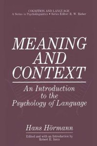 Meaning and Context