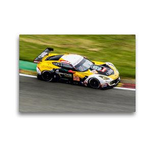 Premium Textil-Leinwand 45 cm x 30 cm quer Corvette C7.R GTE / L