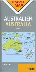 Reisekarte Australien 1:4.000.000