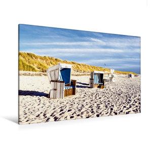 Premium Textil-Leinwand 120 cm x 80 cm quer Weststrand, Strandkö