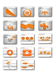 1000 Folien - 3D PowerPoint Vorlagen - Farbe: quick.orange (2016