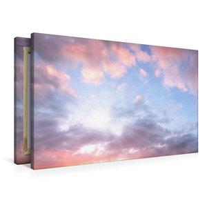Premium Textil-Leinwand 90 cm x 60 cm quer romantische Morgensti