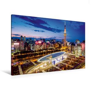 Premium Textil-Leinwand 120 cm x 80 cm quer Nagoya Oasis 21