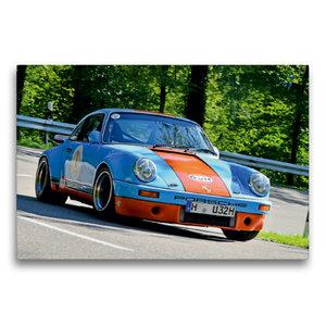 Premium Textil-Leinwand 75 cm x 50 cm quer Porsche 911 SC R - 19