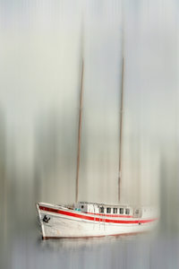 Premium Textil-Leinwand 30 cm x 45 cm hoch Segeljacht - abstrakt
