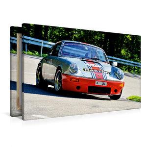 Premium Textil-Leinwand 90 cm x 60 cm quer Porsche 911 RSR Marti