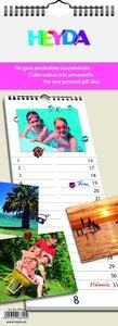 Heyda Kreativkalender weiß Streifenkalender
