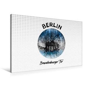 Premium Textil-Leinwand 90 cm x 60 cm quer Graphic-Art BERLIN Br