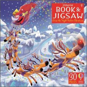 Twas the night before Christmas, jigsaw, w. picture book