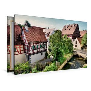 Premium Textil-Leinwand 120 cm x 80 cm quer Blick von der Stadtm