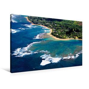Premium Textil-Leinwand 90 cm x 60 cm quer Urlaubsgrüße aus dem