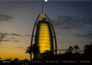 Dubai Wüstenstadt (Wandkalender 2019 DIN A2 quer)