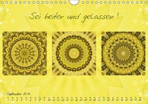 Mandala Collagen mit aufmunternden Sprüchen (Wandkalender 2019 D