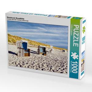 Weststrand, Strandkörbe 1000 Teile Puzzle quer