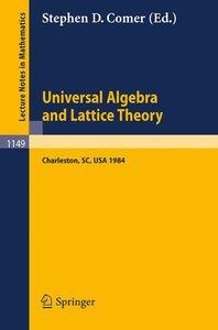 Universal Algebra and Lattice Theory