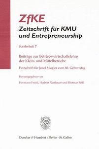 Beiträge zur Betriebswirtschaftslehre der Klein- und Mittelbetri
