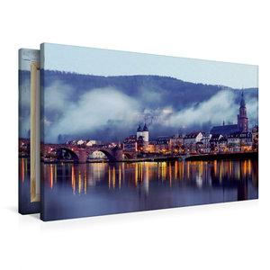Premium Textil-Leinwand 90 cm x 60 cm quer Heidelberg - Altstadt