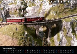 Spur N und Z international, Modelleisenbahn (Tischkalender 2019