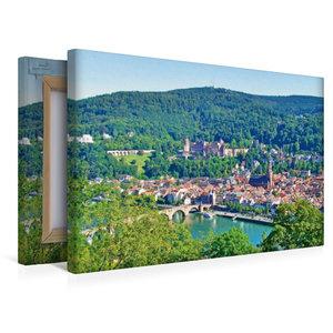 Premium Textil-Leinwand 45 cm x 30 cm quer Heidelberger Altstadt