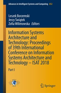 Information Systems Architecture and Technology: Proceedings of