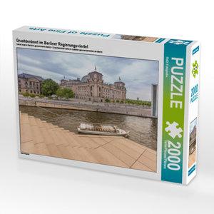 CALVENDO Puzzle Grachtenboot im Berliner Regierungsviertel 2000