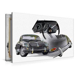 Premium Textil-Leinwand 90 cm x 60 cm quer Porsche 356 C