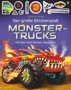 Der große Stickerspaß: Monstertrucks