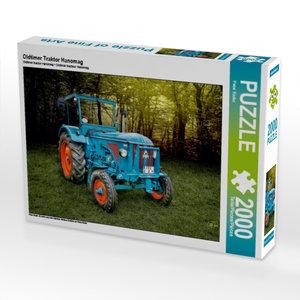 Oldtimer Traktor Hanomag 2000 Teile Puzzle quer