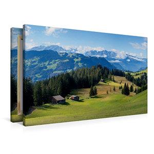 Premium Textil-Leinwand 90 cm x 60 cm quer Idyllische Schweizer