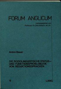 Die Soziolinguistische Status- Und Funktionsproblematik Von Redu
