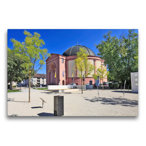 Premium Textil-Leinwand 75 cm x 50 cm quer Ludwigskirche