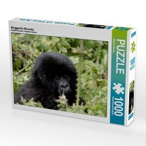 CALVENDO Puzzle Berggorilla (Ruanda) 1000 Teile Lege-Größe 64 x