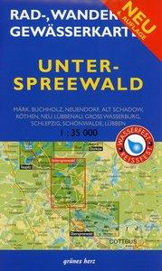 Unterspreewald 1 : 35 000. Rad-, Wander- und Gewässerkarte