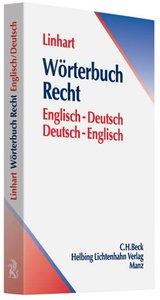 Wörterbuch Recht. Deutsch - Englisch / Englisch Deutsch