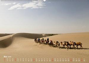 Unterwegs in der Taklamakan Wüste (Wandkalender 2019 DIN A2 quer