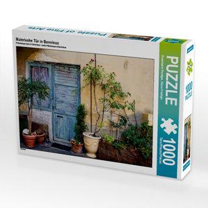 Malerische Tür in Bonnieux 1000 Teile Puzzle quer
