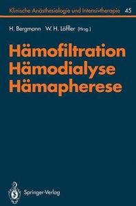 Hämofiltration, Hämodialyse, Hämapherese