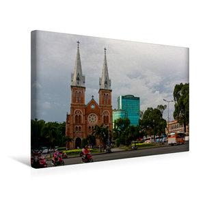 Premium Textil-Leinwand 45 cm x 30 cm quer Saigon Notre-Dame Bas